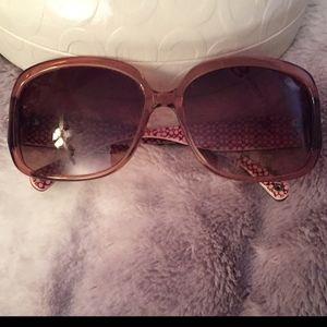 NWOT Coach Sunglasses Blush